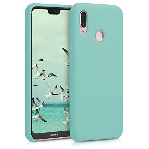 kwmobile Funda para Huawei P20 Lite - Carcasa de TPU para teléfono móvil - Cover Trasero en Menta