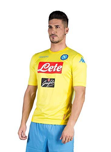 2017 18 SSC Napoli Stadium away jersey Yellow 17 18 Naples Kappa XL Yellow 7b737133d0a4f