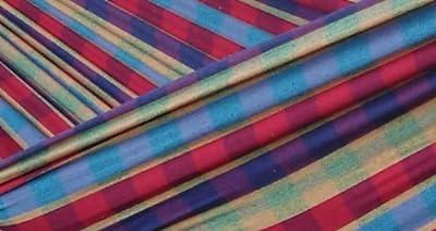 Vivere Hängemattengestell mit Hängematte, Mehrfarbig, 250cm, Doppel