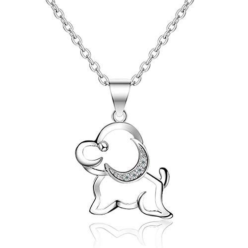 JMZDAW Halskette Anhänger Mode Stil Einfach Dame Welpen Anhänger (Anhänger) Farbe Silber Für Frauen Geschenke -