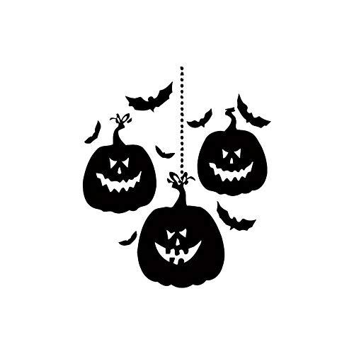 Halloween Kürbis Art Deco Wandaufkleber Wohnzimmer Schlafzimmer Aufkleber Hintergrundwand Abnehmbare PVC Wandaufkleber, 59x63cm