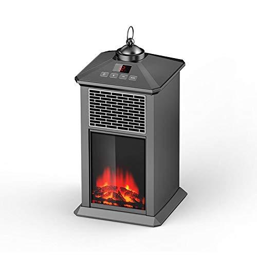 Heating Chimenea Eléctrica Móvil Tipo Estufa de Pie con Efecto de Leña Ardiendo Calefactor, Temporizador...