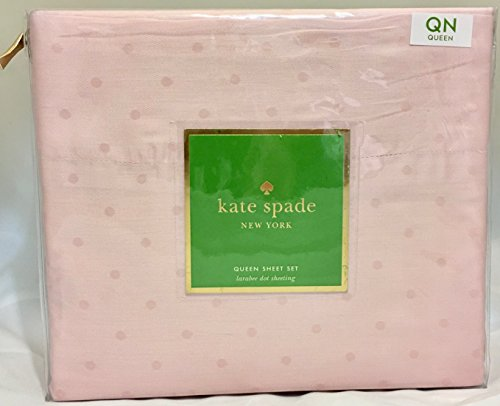 Kate Spade Pink Queen-Bettlaken-Set LARABEE Dot Set von 4 -