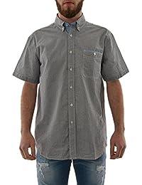chemise manches courtes lee cooper 005404 derby gris