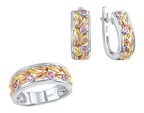 saysure-jewelry-set-pink-created-sapphire-gold-plated-size-6