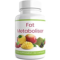 FUELGRADE Fat Metaboliser (60 Capsules) Healthy Weight Loss and Fat Burning Support | African Mango, Acai Berry, Green Tea | Pure, Natural, Powerful Metabolism Booster
