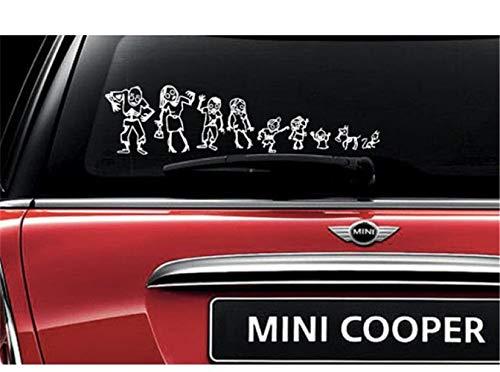 wandaufkleber baum baby Zombie-Familie Strichmännchen Auto Aufkleber (Zombie Baby Dekoration)