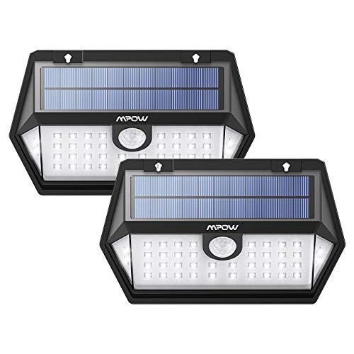 Mpow 【2018 40LED Lámpara Solar Exterior, 3 Modos de Iluminación de 270° con Sensor de Movimiento, Foco Solar IP65 para Jardin, Panel Solar Mejorado para Jardín y Camino(2 Piezas)