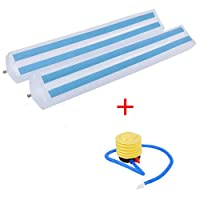 2PCS Bed Rails Bumpers-Toddlers Inflatable Water Resistant Safety Non Slip Bed Guardrail with a Hand Pump, Strong and Durable, Prevent Sliding and Strong Stability, Safety Protection, Easy to Install