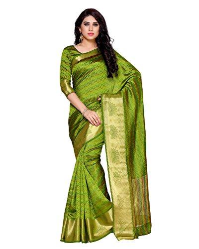 Mimosa By Kupinda Women's Tussar Silk Saree Kanchipuram Style (Latest Designer Sarees...