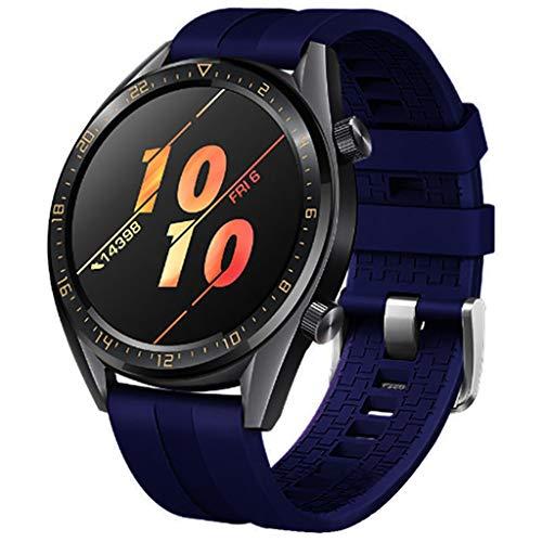 MuSheng für Huawei Watch GT/Watch GT Active 46mm/Honor Magic Armband,Ersatzarmband Mode Silikon Ersatz Zubehör,Atmungsaktiv, wasserdicht, verschleißfest Ersatz uhrenarmband wriststrap