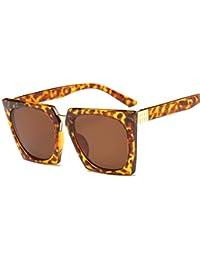 4ee2f099b8 AREDOVL Gafas de Sol cuadradas Estilo Leopardo para Hombres, Gafas de Sol  no polarizadas, de Estilo Vintage, con Lentes de Sol…