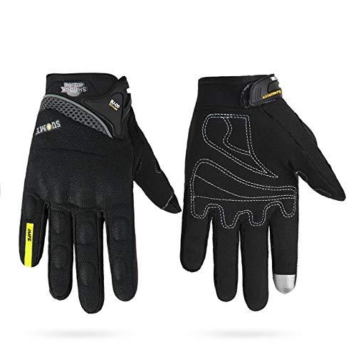 Dgtyui Guanti da moto guanti da uomo invernali antivento e freddi guanti touch screen guanti da moto - SU-09 Nero X XL X Cina