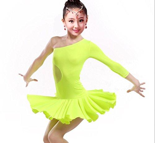 Schwarze Orange Und Tanzkostüm - SMACO-Lateinisches Tanzkostüm des Mädchens Latin Dance Kinderkleidung Mädchen Show Wettbewerb Kleidung Kinder Tanzkleidung Wettbewerb Orange/grün/schwarz/weiß, 110cm, Green