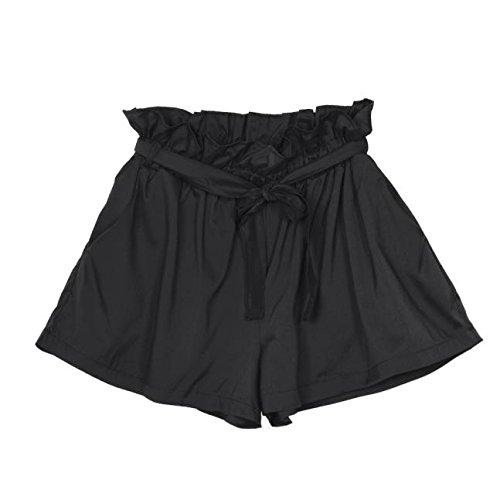 Sonnena Sommer Kurze Hosen Damen Loose Bermuda Shorts Frauen Kurze Basic Shorts Hotpants Sweatshorts Sporthose High Waist Laufshorts (Active Basic Leggings)