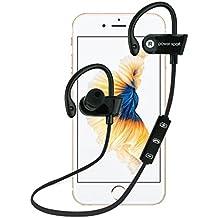 Oreillette/headset Bluetooth Elyseesen Sans fil crochet d'oreille Bluetooth stéréo casque étanche de sport (noir)