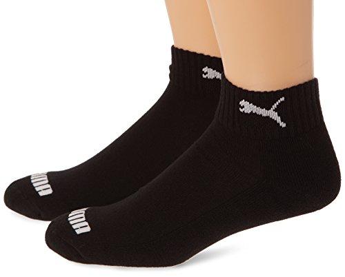 Gepolsterte Knöchel-socken (PUMA Uni Socke Quarter 1/2 Cush. 2p,  black, 39/42 ,283009200039)