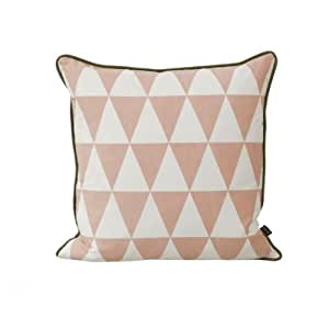 Ferm Living - Coussin Geometry Rose / Large