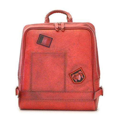 italienischen Pratesi Leder rot rot Rucksack Firenze Laptop O0UPxqvw