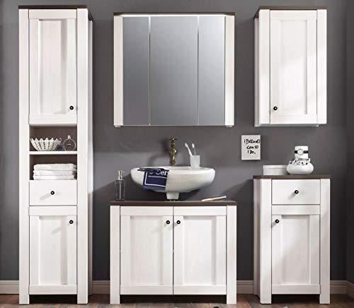 ANTWERPEN Badezimmer Set Komplettset Badmöbel Badezimmermöbel Weiß