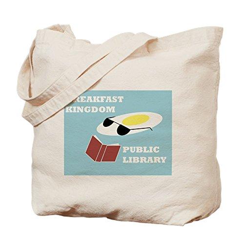 CafePress Breakfast Kingdom Tasche für Bibliotheken, canvas, khaki, S - Abenteuer Jake