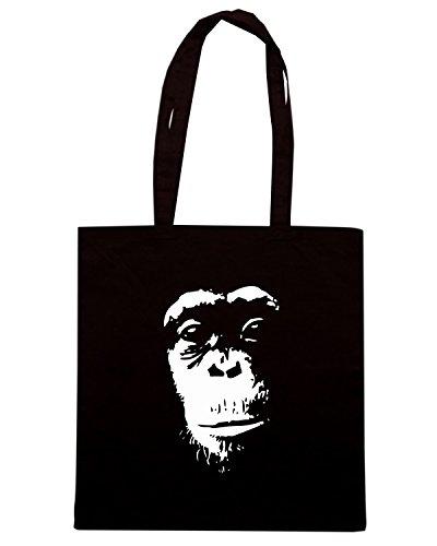 T-Shirtshock - Borsa Shopping FUN0995 chimp1btiljpg tshirt Nero