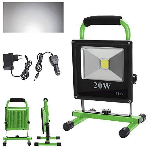 wolketon 20W Blanco frío LED Foco Recargable Proyector para Trabajo de Noche