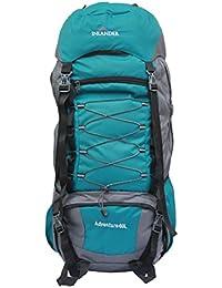 INLANDER 6001 Teal Blue 60L Rucksack Daypack Backpack Bag for Travel Hiking Trekking & Camping for Men & Women