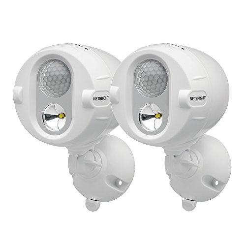 Mr Beams NetBright batteriebetriebener LED Spot mit Bewegungssensor und per Funk koppelbar weiß MBN342 (2-er Pack)
