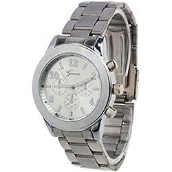 WINWINTOM Unisex Stainless Steel Quartz Wrist Watch Silver
