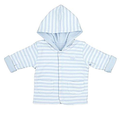 FEETJE Baby-Jacke Wendejacke mit Kapuze uni/ringel 518137 hellblau (077) Gr.62