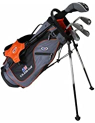 'US Kids Golf Ultralight Set 51, 125cm–132cm, Age 7–9ans, Golf clubs for Kids, Clubs de Golf pour enfants/adolescents, Fairway Driver, Iron/Fer 6,8, Pit Ching Wedge, Putter, Bag, Maximum Distance And Control, Soft Feel, Lightweight, Stainless Steel
