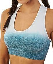Pau1Hami1ton Women Seamless Racerback Sport Bra Workout Gym Activewear Top SB-12