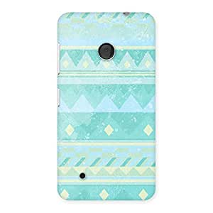 Neo World Turqoise Pattern Back Case Cover for Lumia 530