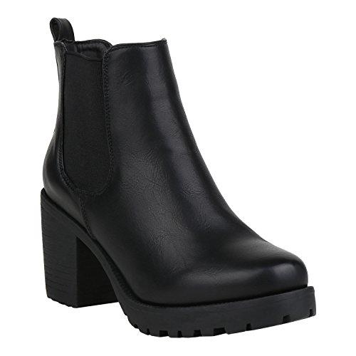 Stiefelparadies Femme Bottillon Boots Chelsea doublé...