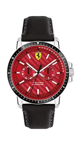 Scuderia Ferrari Turbo Quarzuhr silber