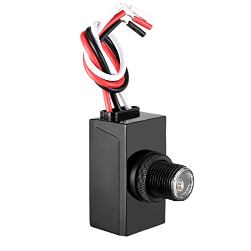 uxcell Dusk Dawn Photo Control Photocell 120-277 V Outdoor Photocell Light Sensor Lighting Switch