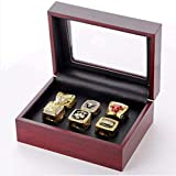 HFL GF-Sports Store Juego de 6 Anillos de réplica del Campeonato Bulls de la NBA por Display Box Set- Coleccionable