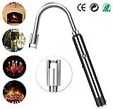 Semlos Arc Feuerzeug Flammenloses elektronisches Feuerzeug - wiederaufladbares USB-Feuerzeug - flammenloses Wind& wasserdichtes Plasma Feuerzeug mit 360 ° flexiblem Hals