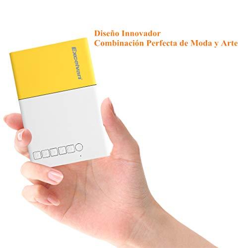 Mini Proyector LED Excelvan Proyector Portátil para Android/ iPhone/ PC/ TV Box, Magnífico Proyector para Que los Niños Vean Dibujos Animados o Material Educativo conSD/AV/USB/HDMI(320*240)