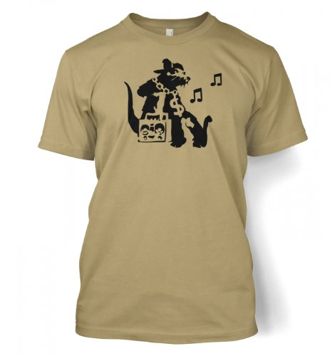 Ghetto Ratte Banksy Männer T-Shirt Hellbraun