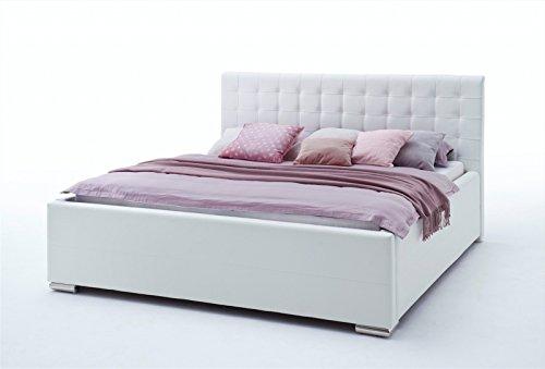 Polsterbett V1 in Kunstleder Weiß l 180x200 l Komfort-Modell l meise.möbel