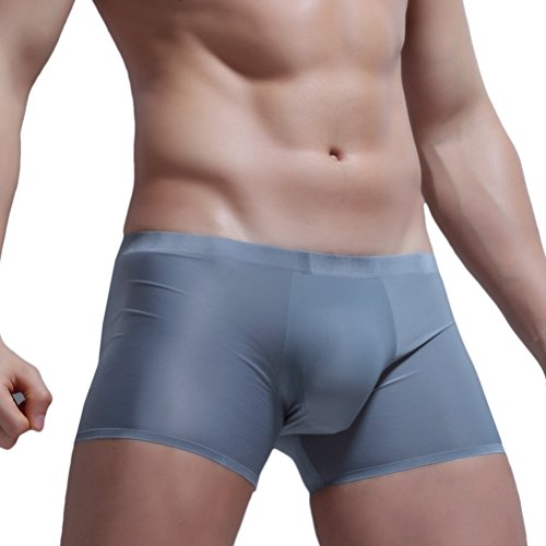 Briefs Lightweight Boxer (Zhhlaixing Herren Translucent Atmungsaktiv Stretch Super Soft Smooth No trace Ice Silk Bikini Basic Brief Slip Trunk Shorts Boxers Unterhose Unterwäsche Swimwear)