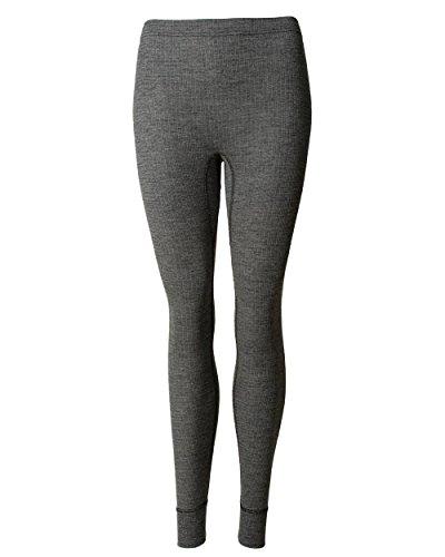 Cosilana, Damen Lange Unterhose, 45% KBA Baumwolle, 35% kbT Wolle, 20% Seide (44/46, Schwarz malange)