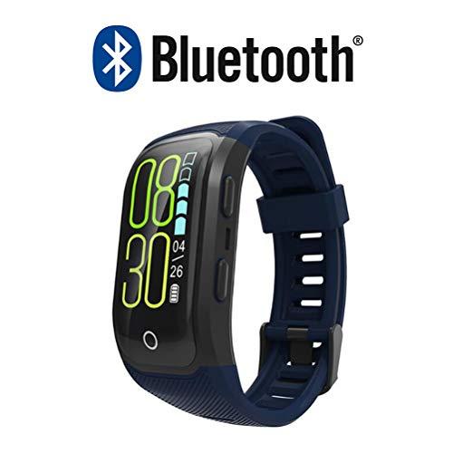 TYJ Fitness-Tracker, Wasserdichten Farbbildschirm intelligente Motion GPS Smart Watch Wache Herz Rate Monitor Fitness-Armband