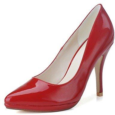 RTRY Donna Formale Tacchi Scarpe In Pelle Di Brevetto Primavera Estate Parte &Amp; Abito Da Sera Stiletto Heel Mandorla Nero Rubino Bianco 4 In-4 3/4In US9.5-10 / EU41 / UK7.5-8 / CN42