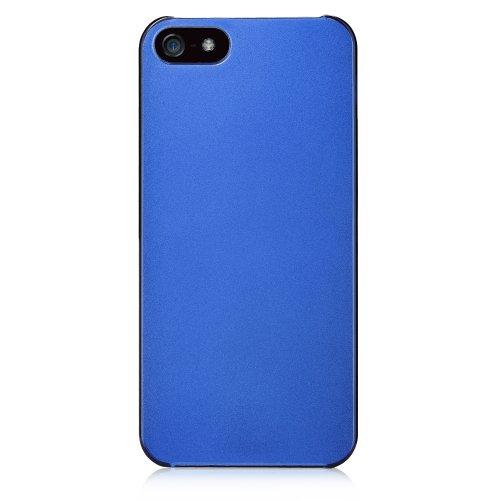 GGMM Jelly Ultra Slim Abdeckung Schutzhülle mit Displayschutzfolie Film für Apple iPhone 5/5S Perle/blau 4s Pearl Case Iphone