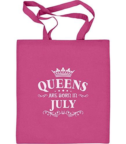 k für Juli - Queens Jutebeutel Baumwolltasche One Size Rosa (Her Von Juli T-shirts)