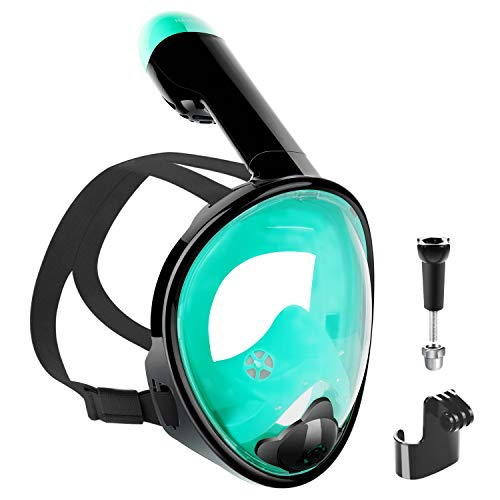 NAVESTAR Tauchmaske Schnorchelmaske vollmaske bringt Kinder Einem 180° Gesichtsfeld, Easybreath und Anti-Beschlag Design der Vollgesichtsmaske Machen mehr praktische beim Schnorcheln