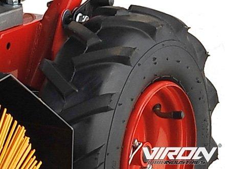 Benzin Kehrmaschine 11 PS mit Elektrostarter 3in1 Schneeschieber Motorbesen Schneepflug - 3